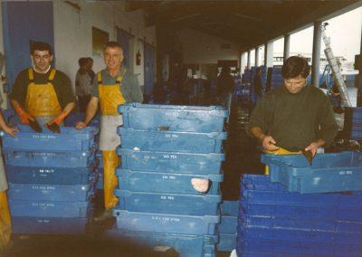 1997 Aout ancienne criée de l'Ile d'Yeu Mareyage Hennequin histoire